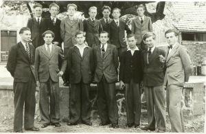 Die jungen Männer in Kranlucken ca. 1953