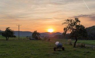 Sonnenuntergang Kranlucken